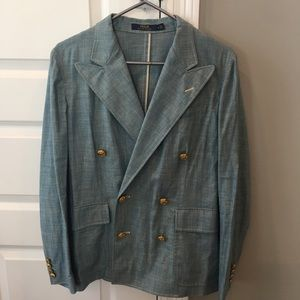 Polo chambray button up blazer